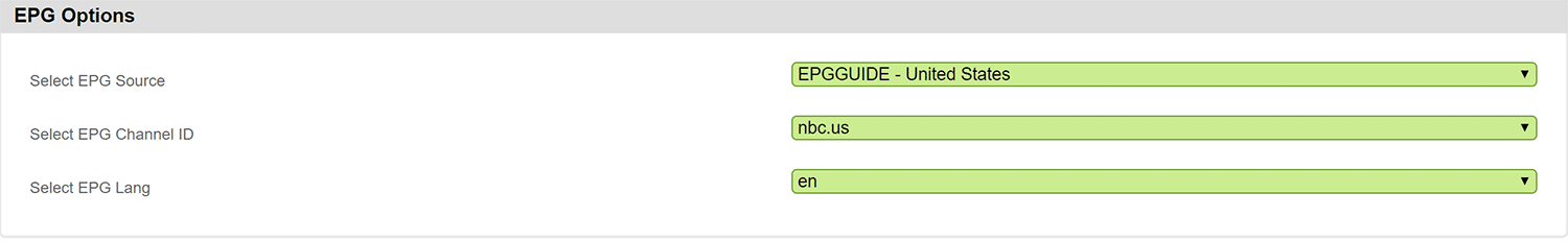 EPG Xtream Codes